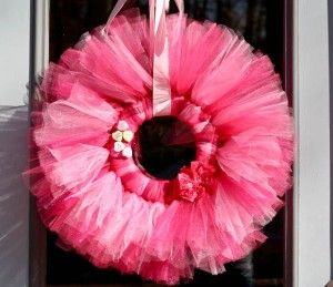 I made a similar version to this cute Valentine's Day wreath. SO easy and cute, Whitney made one too!