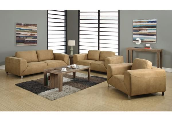 Sofas For Sale Monarch Specialties I Tan Chocolate Brown Contrast Micro Suede Sofa