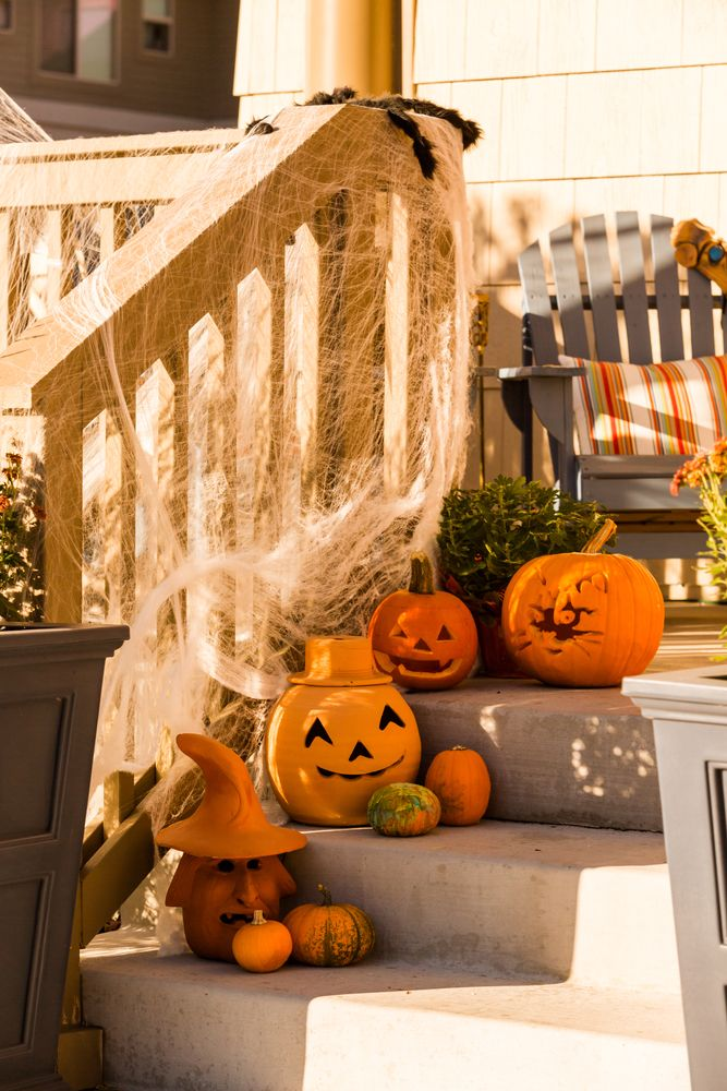 Halloween Front Porch Decor Ideas Home Ideas Pinterest