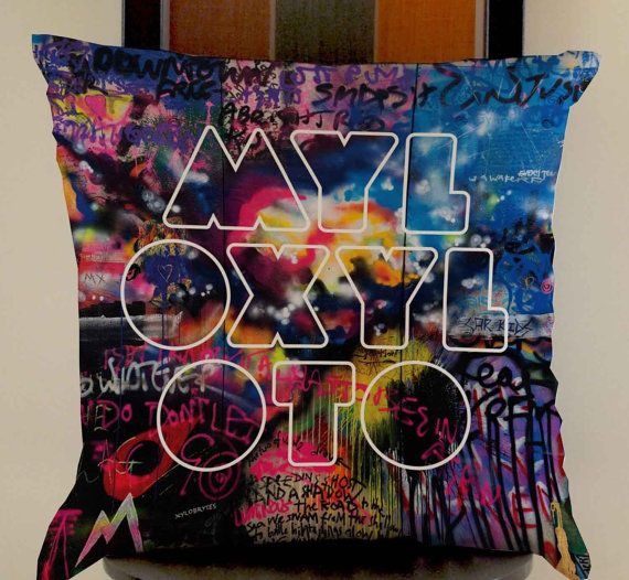 Coldplay Mylo Xyloto logo pillow case one side or two by mugxagrip