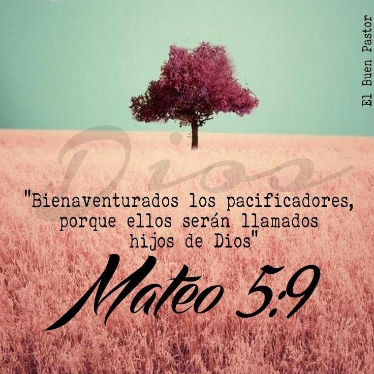 Mateo 5:9 Bienaventurados los pacificadores, porque ellos serán llamados hijos de Dios.♔
