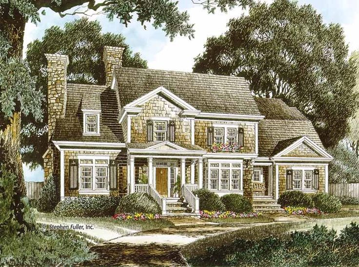 Best House Plans Images On Pinterest Corner Fireplaces Home - Colonial cape cod style house plans