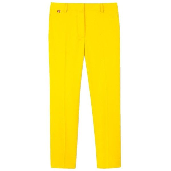Paul Smith Paul Smith Women's Yellow Wool Pants | Bluefly.Com (€355) ❤ liked on Polyvore featuring pants, yellow, paul smith trousers, yellow trousers, wool trousers, wool pants and yellow pants