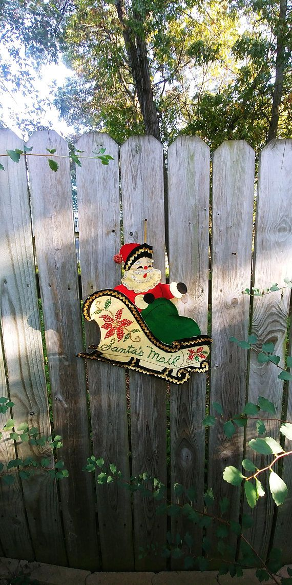 Hey, I found this really awesome Etsy listing at https://www.etsy.com/listing/546075398/santa-in-a-sleigh-santa-mail-card-holder