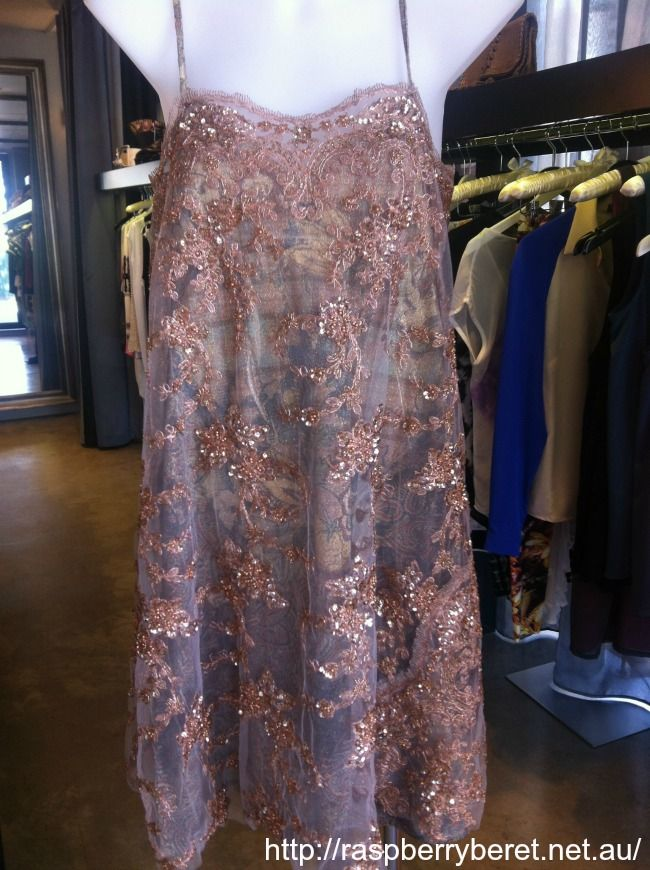 Instore now: Kees Von Kees Buenos Aires Gatsby Party Dress with Metallic Overlay   $395 www.raspberryberet.net.au #keesvonkees #summernights #sequins