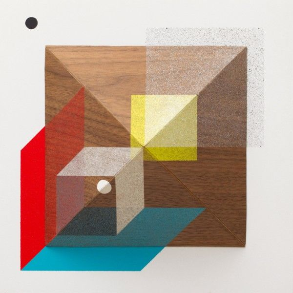 Wooden art  Geometric Compositionsby the industrial designer Christopher Derek Bruno using primary shapes and colours to construct simple, two-dimensional and three-dimensional compositions with wood.