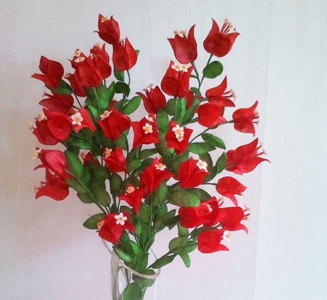 begonvil, bougainvillea, ipek, ipek böcekciliği, ipek kozası, koza çiçeği, ipek kozasından çiçek, silk, silk cocoon, silk flower, ipek el sanatları, www.ipekelsanatlari.com