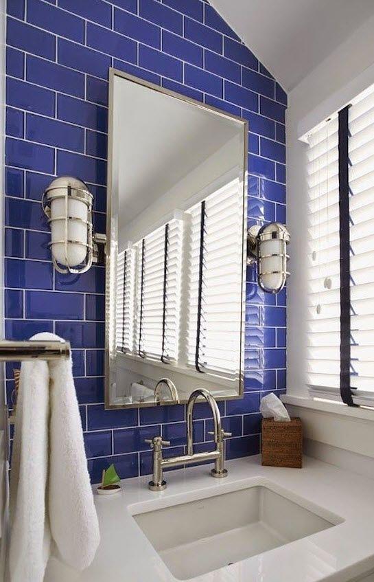 11 Best Cobalt Blue Tile Ideas, Cobalt Blue Bathroom Tile