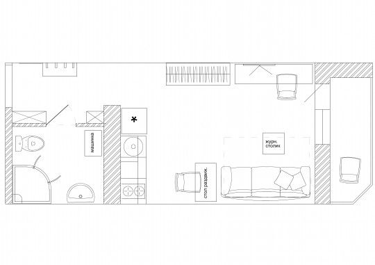 Узкая квартира студия 28 кв.м.   Идеи для ремонта