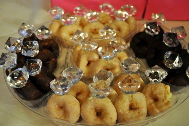 Fun Bridal Shower Or Engagement Shower Diamond Ring Donuts