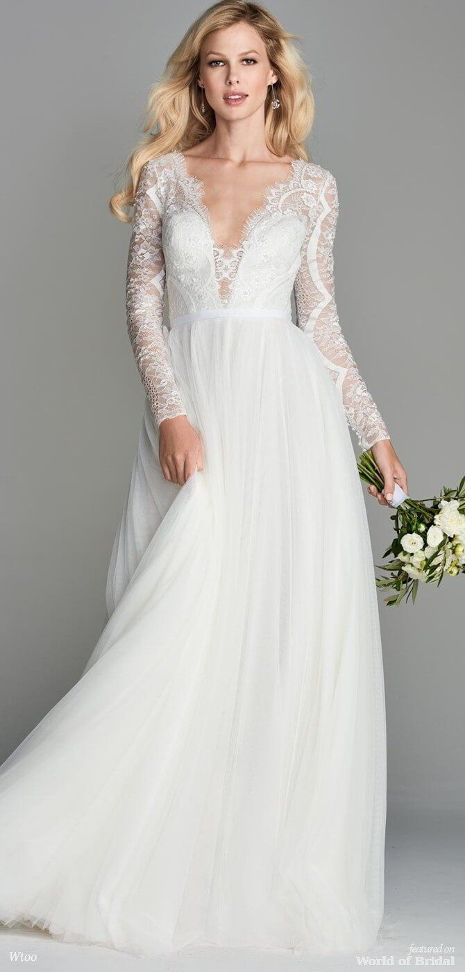 Lace wedding dress cheap december 2018 Wtoo Spring  Bridal Collection by Watters  Wedding dress