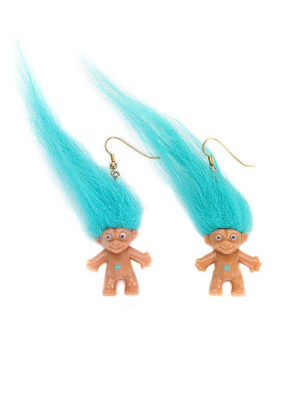 90s Troll Earrings $14 at http://BeHoneyBee.com