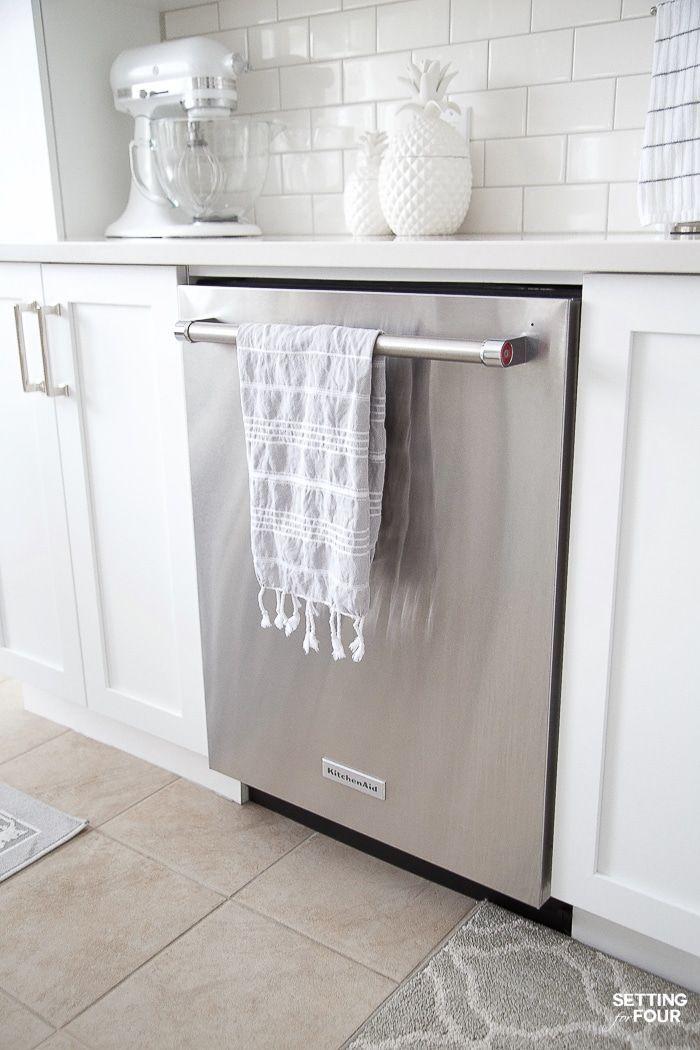 Quiet Kitchenaid Dishwasher Energystar Energy Efficient Dishwasher Quiet St Appliances Kitchen Stainless Steel White Kitchen Remodeling White Appliances