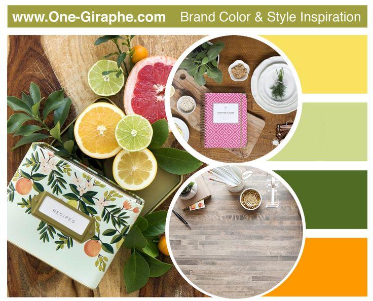 www.One-Giraphe.com #moodboard #logoboard #brandcolors #fresh #logodesign #logo