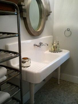 I Loved That They Used A Double Drainboard Sink From The 1920u0027s In The  Bathroom.