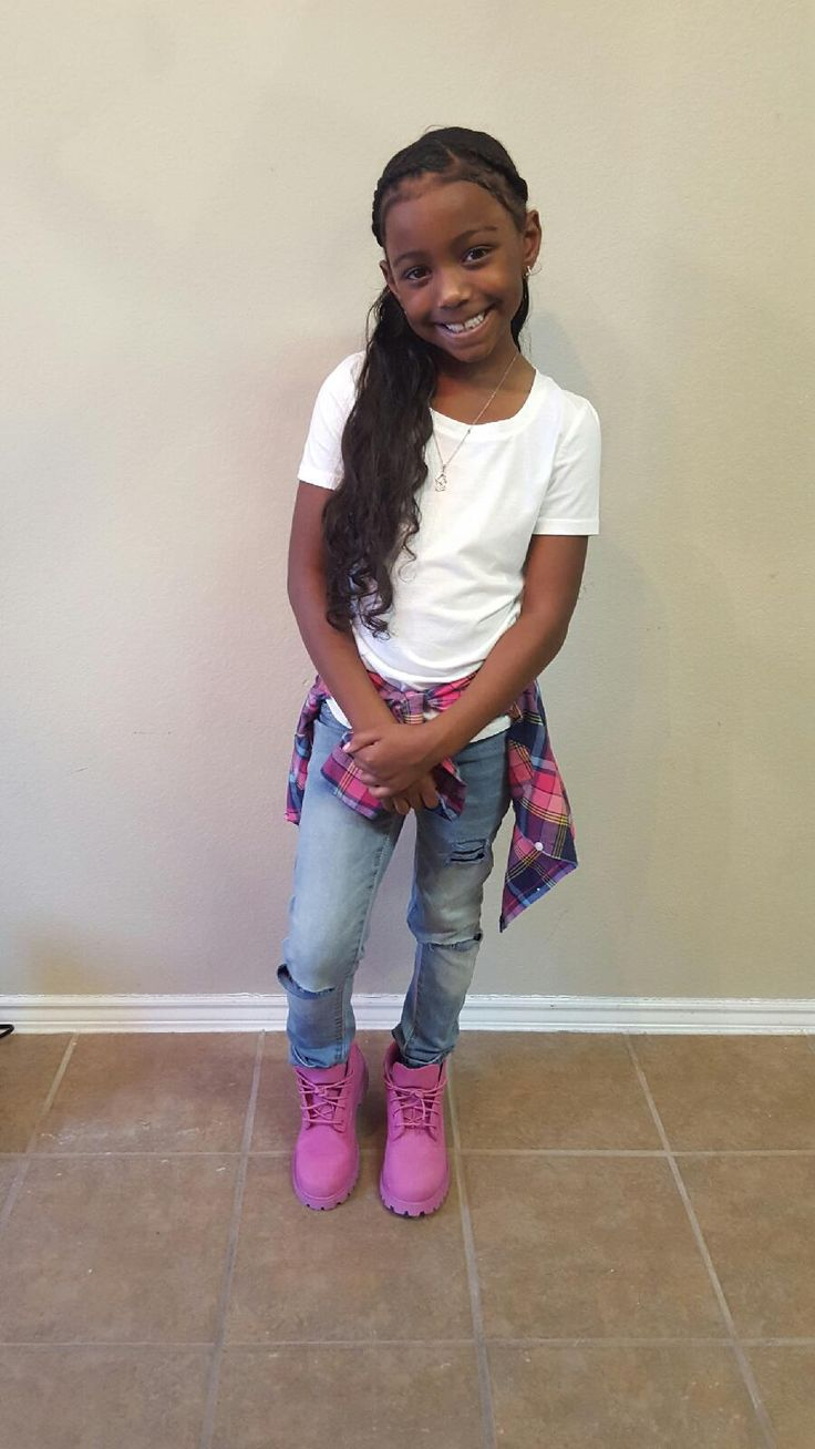 Girls Swag, Timberland Outfit, Pink Timbs, Cute Kids -9974