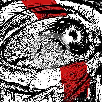 Painful anger illustrations, suitable images for print poster or t-shirt