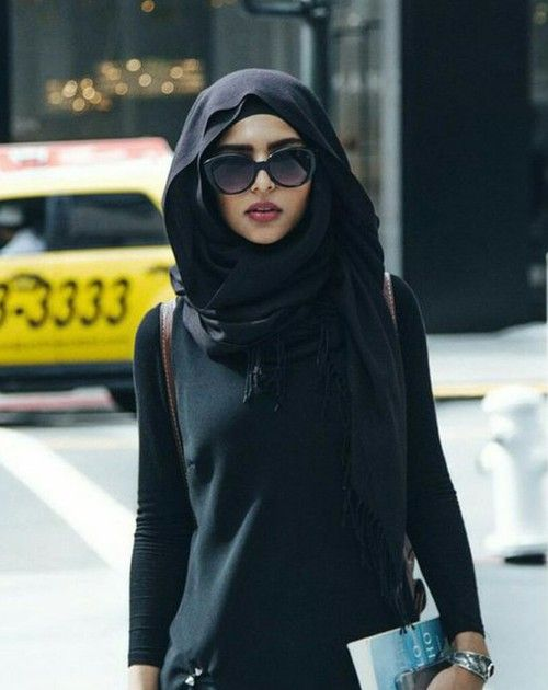 All black chic #hijab #hijabi #style