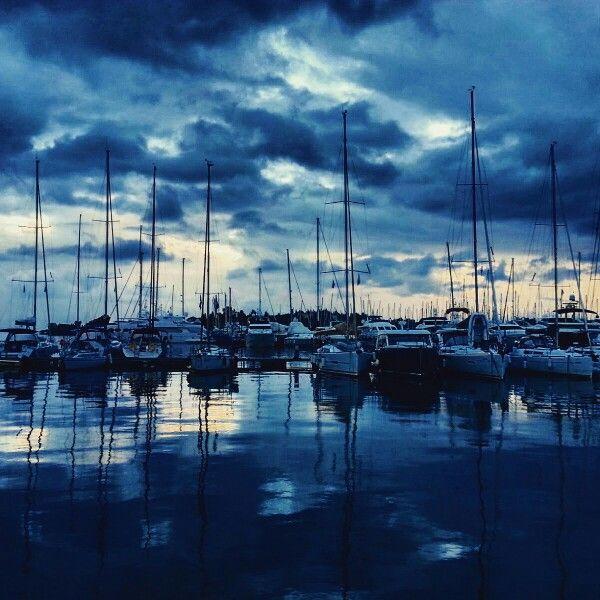 Blue sunrise ♡.. Gouvia Marina, Corfu, Greece
