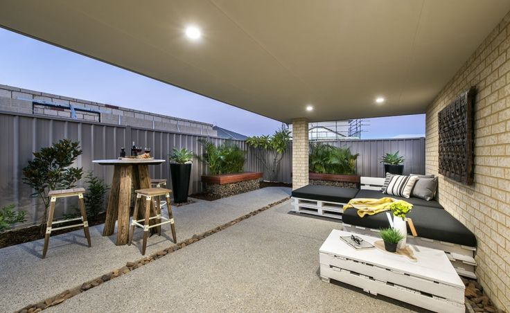 Large undercover alfresco with sliding door access from dining room