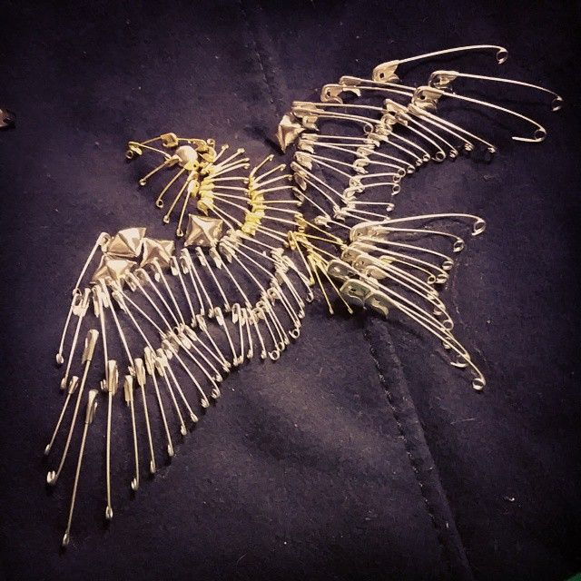 "62 Likes, 5 Comments - Brooke Bearup (@teecobug) on Instagram: ""My jacket didn't have any safety pins so I changed that with a bird.  This did the opposite of make…"""