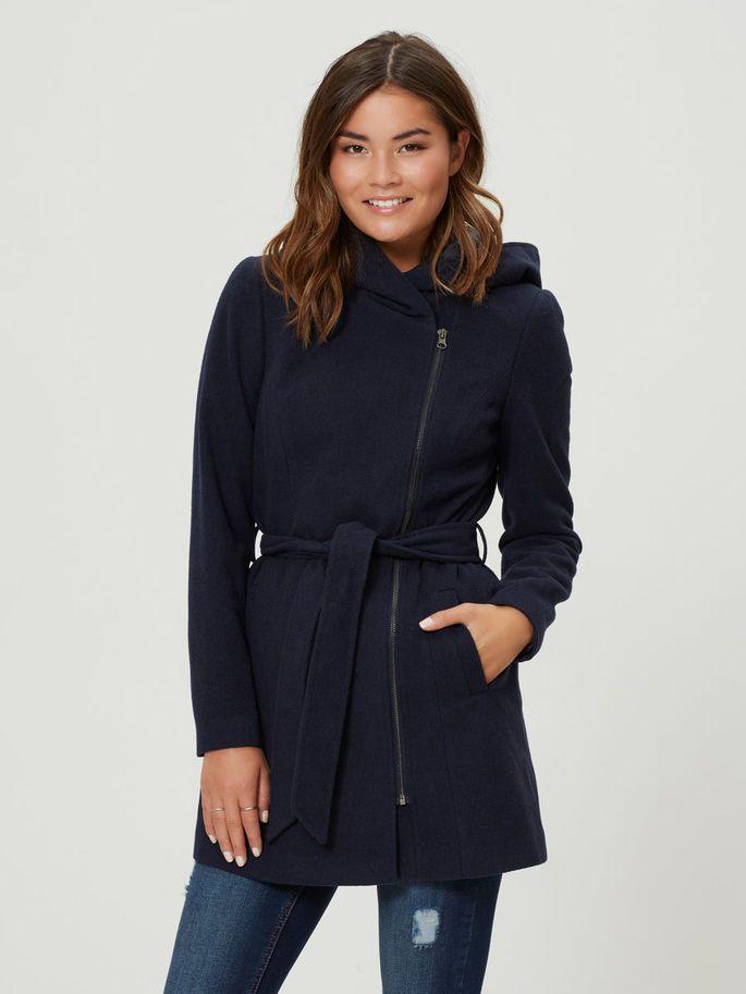 WOOL COAT, Navy Blazer, large