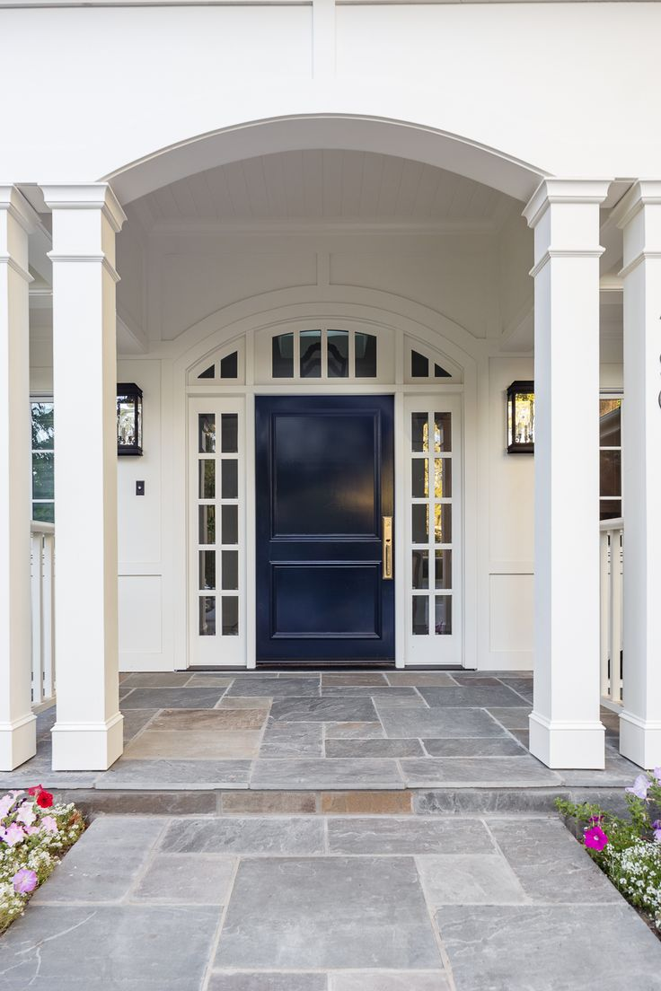 Dark blue front doors - Find This Pin And More On Entrance Door