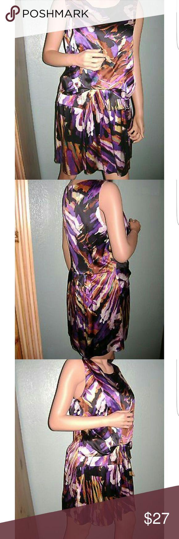 ALI RO abstract watercolor print silk dress Like new great condition silk watercolor dress Ali Ro Dresses