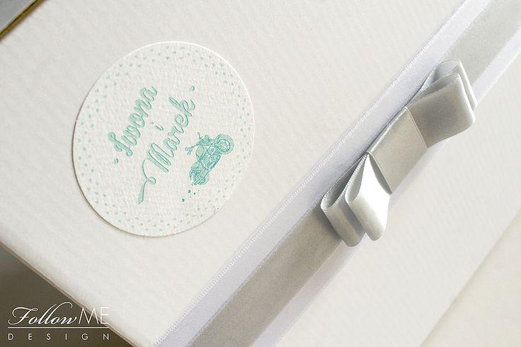 Pudełko na koperty / Miętowe dekoracje ślubne od FollowMe DESIGN / Wedding Card Box / Mint Wedding Decorations & Details by FollowMe DESIGN