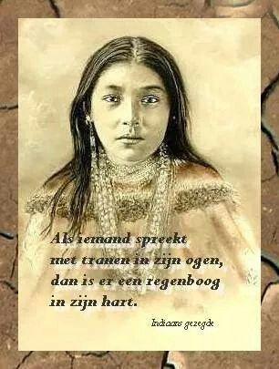 Oud Indiaans gezegde