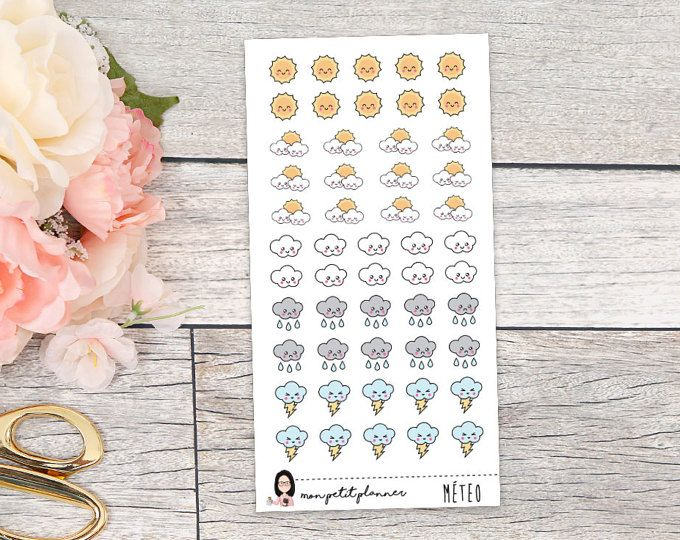 Weather Functional Planner Stickers