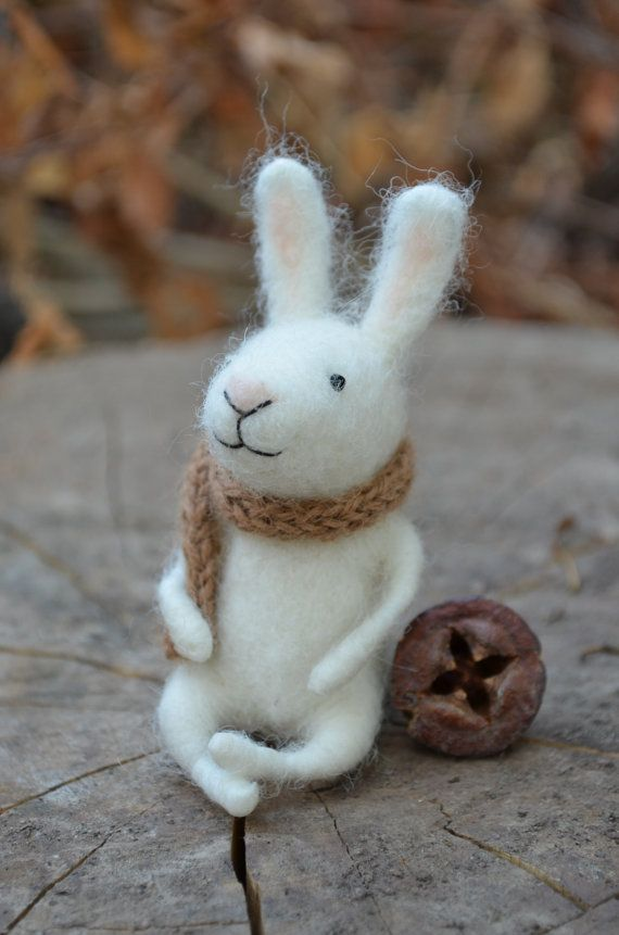 This little bunny is sized just right for tucking into an Easter basket.