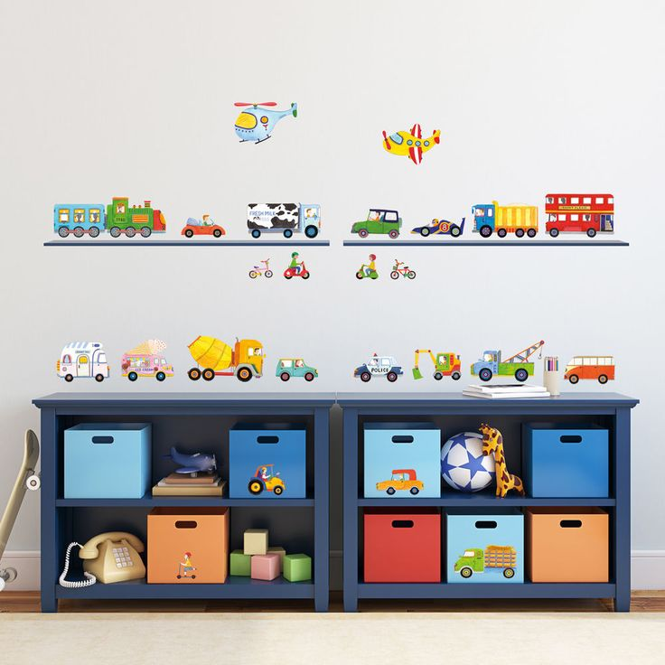 Decowall Transport Wall Stickers Removable Vinyl Home Children Decals 1405 kids #DecowallDW1405 #ModernEducationalGoodforChildren