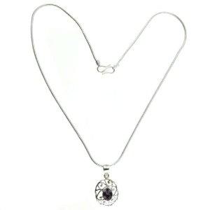 Handcrafted Silver Locket with Chain Amethyst Gemstone Jewelry 1.75 inches (Jewelry)  http://balanceddiet.me.uk/lushstuff.php?p=B005LEUAHI  B005LEUAHI