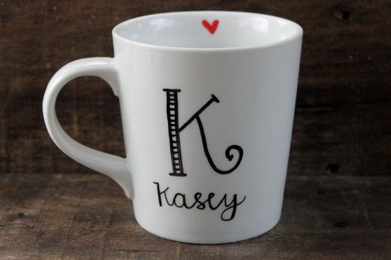 Start the day off right sipping hot coffee, tea or hot cocoa from this sweet designed, personalized just for you or someone you love!    This