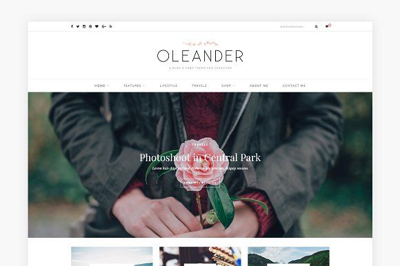 Oleander - A Blog & Shop Theme by Solo Pine on @creativemarket
