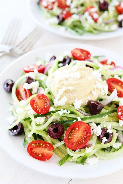 Greek Cucumber Noodles Recipe