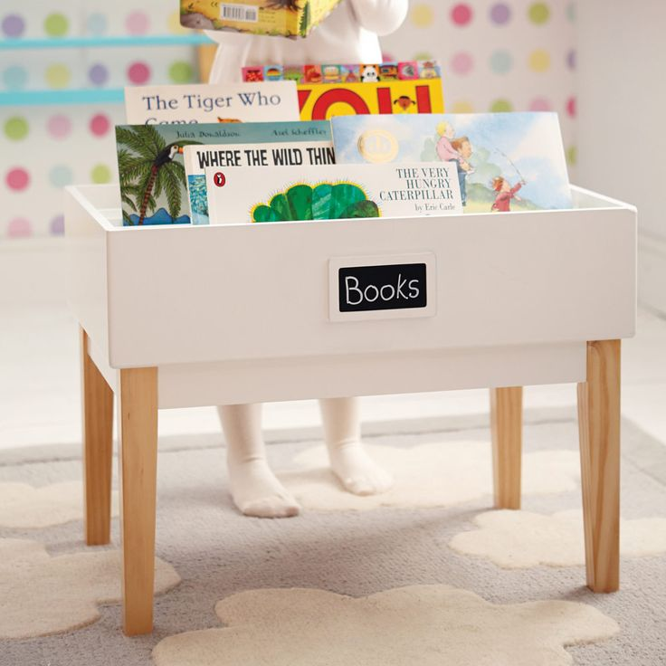 This lovely table is the perfect height and allows younger readers to flick through the book covers until they find one of interest.