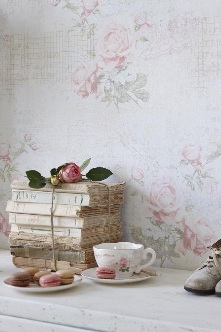 "DJOOZ Wallpaper ""Big Rose"" - detail"