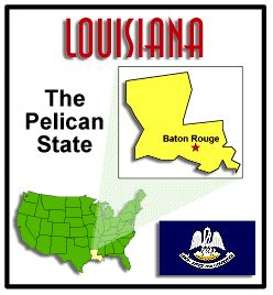 State facts about Louisiana #EasyPin