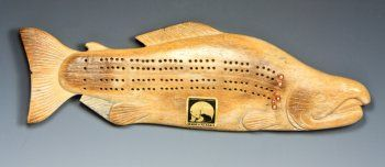 Whalebone Cribbage Board Salmon, love this one!!