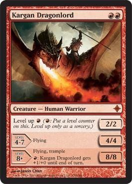 Magic: the Gathering - Kargan Dragonlord - Rise of the Eldrazi by Wizards of the Coast. $5.84. From the Rise of the Eldrazi set.. A single individual card from the Magic: the Gathering (MTG) trading and collectible card game (TCG/CCG).. This is of Mythic Rare rarity.. Magic: the Gathering is a collectible card game created by Richard Garfield. In Magic, you play the role of a planeswalker who fights other planeswalkers for glory, knowledge, and conquest. Your deck of ...