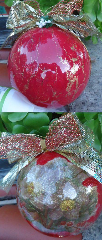 Natale sfera decorazione albero doppio fiocco