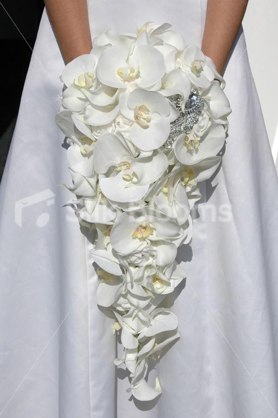 Silk Cascading Bouquets | ... Cascading Bridal Bouquet [Lola - Bride (4)] - £199.99 : Silk Wedding