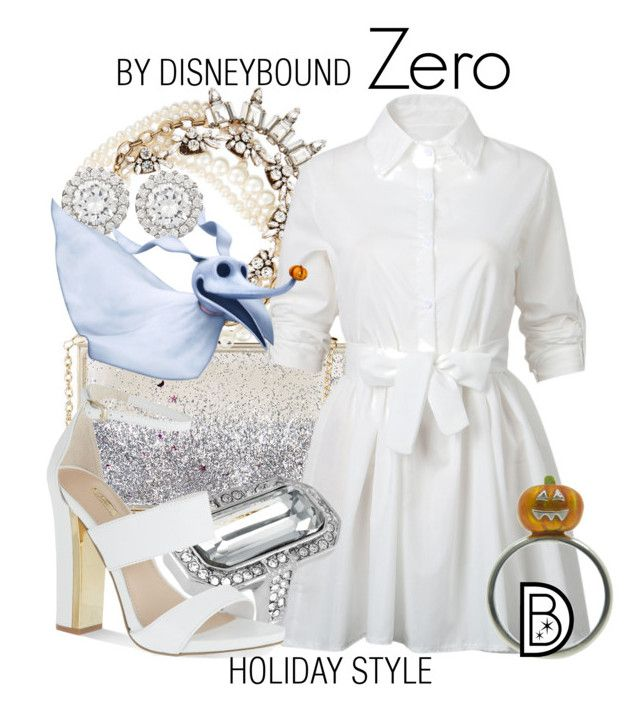 Zero by leslieakay on Polyvore featuring polyvore, fashion, style, WithChic, Carvela, Topshop, Lulu Frost, Louise et Cie, Kenneth Jay Lane, disney, disneybound and disneycharacter
