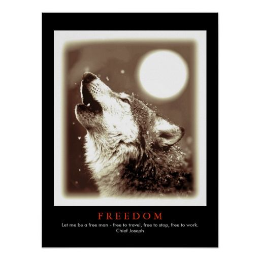 Sepia Black Unique Motivational Wolf Howls Print