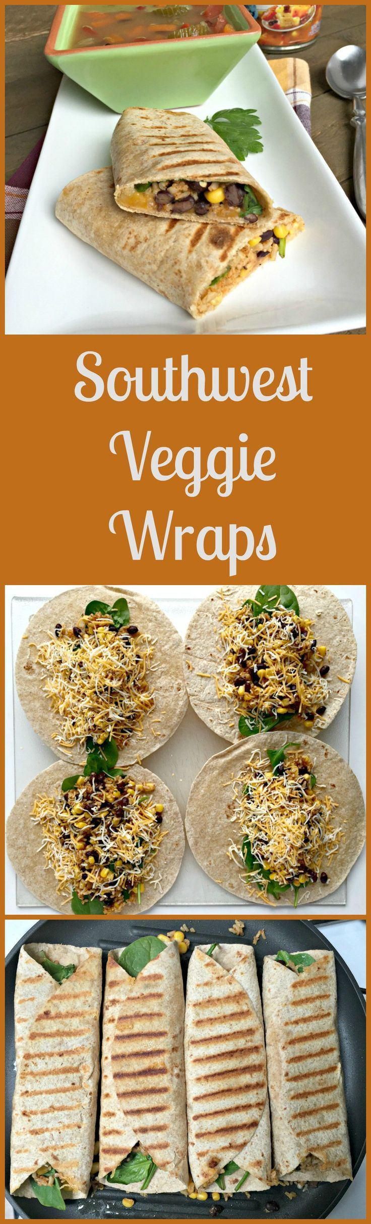 Southwest Veggie Wraps #EatLightEatRight#ad