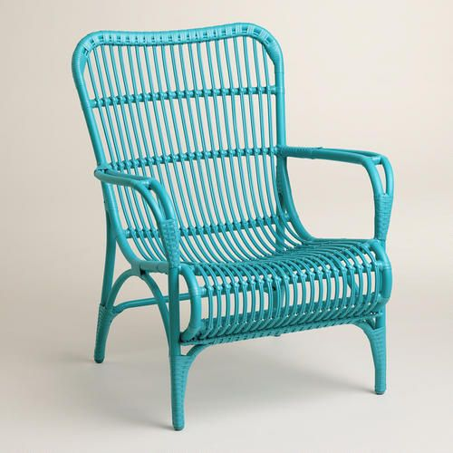 Blue Hanalei Outdoor Chairs   World Market. 57 best Outdoor Furnishings images on Pinterest