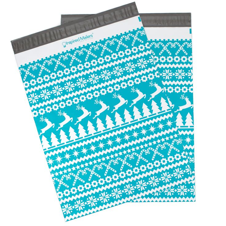"Christmas Sweater Printed Mailers 14.5x19"" - Pack of 50 - Writable Surface: No Labels Required"