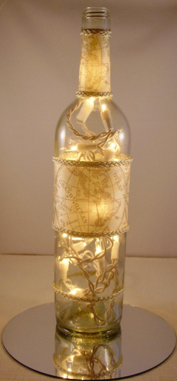 55 best glass bottles images on pinterest glass bottles for Champagne bottle lamp